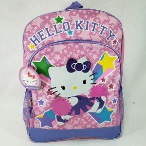 NWT Sanrio Hello Kitty Cheerleader School Backpack
